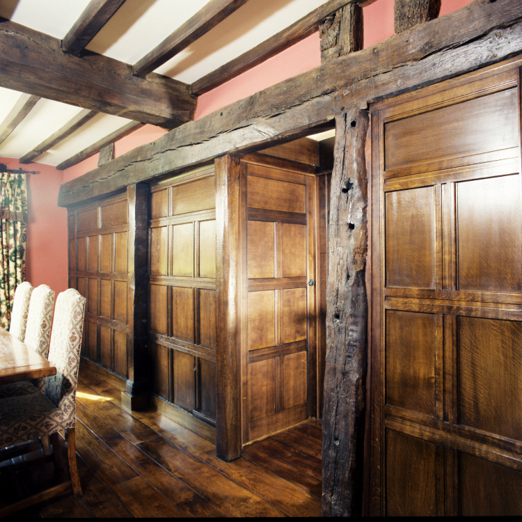 Lighting to show original oak panelling by SEEC