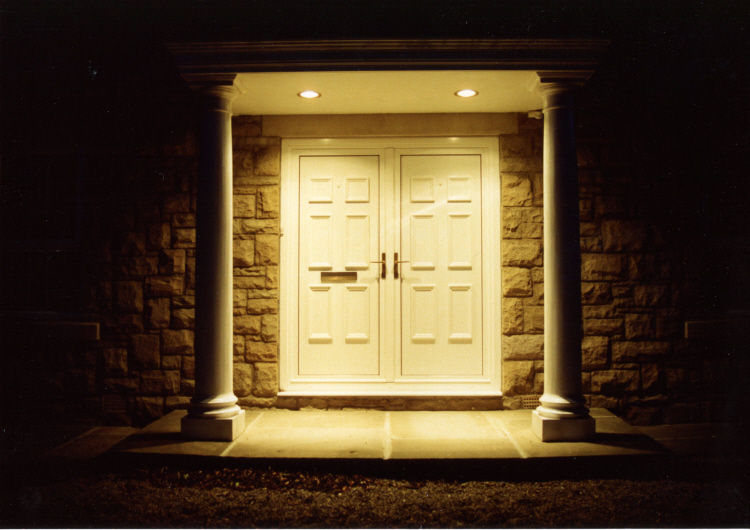 Portico down lights by SEEC