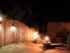 Sleeper wall and pillar lit terrace