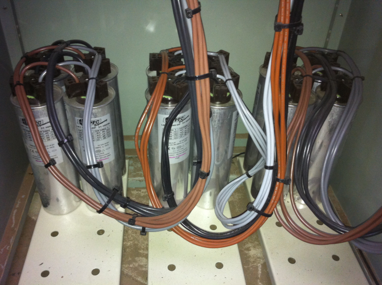Fitting new capacitors to Power factor correction  equipment by SEEC